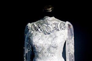 wedding gown on dummy
